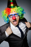 Homme d'affaires de clown Photographie stock libre de droits