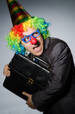 Homme d'affaires de clown Photos stock