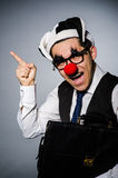 Homme d'affaires de clown Images libres de droits