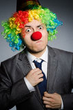 Homme d'affaires de clown Image libre de droits