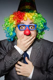 Homme d'affaires de clown Images stock