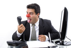 Homme d'affaires de clown Images stock
