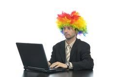 Homme d'affaires de clown Photographie stock libre de droits