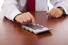 Homme d'affaires de comptable image stock