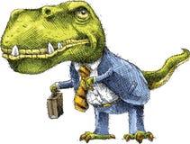 Homme d'affaires de dinosaure Image libre de droits