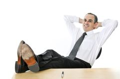 Homme d'affaires de détente Photo stock