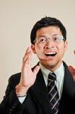 Homme d'affaires de l'Asie de verticale photographie stock
