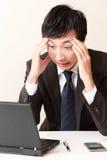 Homme d'affaires de panique Photographie stock libre de droits