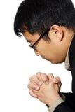 Homme d'affaires de prière Photo stock