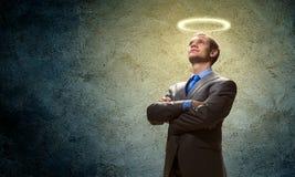 Homme d'affaires de saint Image libre de droits