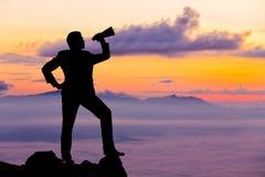 Homme d'affaires de silhouette Photographie stock libre de droits