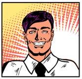 Homme d'affaires de sourire illustration stock