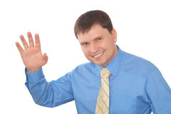 Homme d'affaires de sourire amical Photographie stock libre de droits