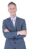 Homme d'affaires de sourire avec des bras croisés photos libres de droits