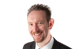 Homme d'affaires de sourire avec la barbe de barbichette Photos libres de droits