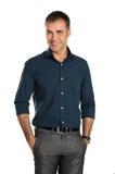Homme d'affaires de sourire heureux Photo stock