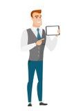 Homme d'affaires de sourire Holding Tablet Computer Image libre de droits