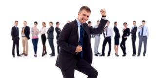 Homme d'affaires de Succesfull et son équipe Image libre de droits