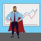 Homme d'affaires de superhéros, concept d'affaires illustration libre de droits