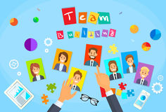 Homme d'affaires de Team Building Concept Hands Photos Illustration de Vecteur