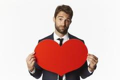 Homme d'affaires de Valentine Photographie stock libre de droits