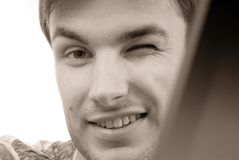Homme d'affaires de verticale, visage Photos libres de droits