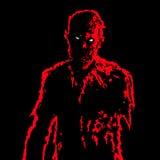 Homme d'affaires de zombi dans des couleurs noires et blanches Illustration de vecteur illustration de vecteur