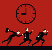 Homme d'affaires Deadline Time Illustration Stock