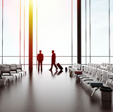 Homme d'affaires deux dans l'aéroport photo stock
