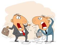 Homme d'affaires deux de argumentation illustration de vecteur