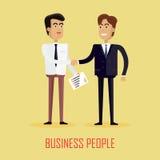 Homme d'affaires deux se serrant la main illustration de vecteur