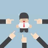Homme d'affaires dirigé par beaucoup de mains illustration de vecteur