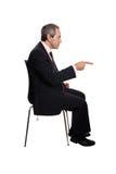 Homme d'affaires dirigeant son doigt photographie stock libre de droits