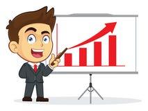 Homme d'affaires Doing une présentation Image libre de droits