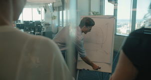 Homme d'affaires donnant des résultats réels d'affaires d'évaluation banque de vidéos