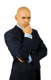 homme d'affaires doutant de la verticale Photographie stock libre de droits