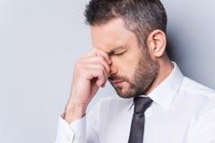 Homme d'affaires déprimé Images stock