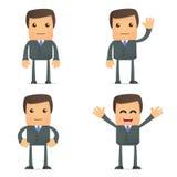 Homme d'affaires drôle de dessin animé illustration stock