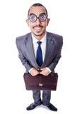 Homme d'affaires drôle de ballot Photographie stock libre de droits