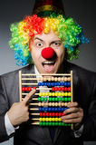 Homme d'affaires drôle de clown Image stock