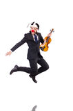 Homme d'affaires drôle de clown d'isolement Photos stock