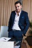 Homme d'affaires du Moyen-Orient dans le bureau Photos libres de droits