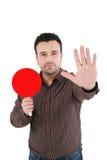 Homme d'affaires effectuant le signe d'arrêt Image libre de droits