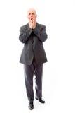 Homme d'affaires effrayé avec la tête dans des mains Photos libres de droits
