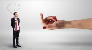 Homme d'affaires embrassé avec le concept de amorce de main Photos libres de droits