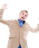Homme d'affaires en baisse photos stock