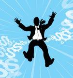 Homme d'affaires en baisse illustration libre de droits