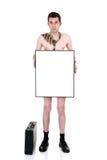 Homme d'affaires en faillite, éliminé Photographie stock libre de droits
