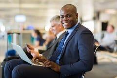 Homme d'affaires en voyage africain Image libre de droits
