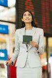 Homme d'affaires en voyage indien Images libres de droits